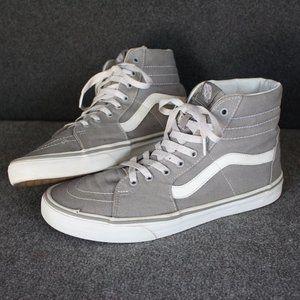 Vans Sk8 Hi High Tops, Grey Gray, Skateboard
